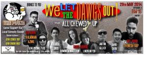 Promo for We Let the Dawgs Out show at The Pound, May 2014