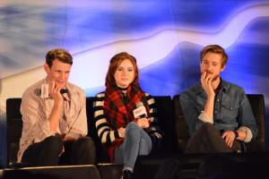 Matt Smith, Karen Gillan, and Arthur Darvill at Night of the Doctor
