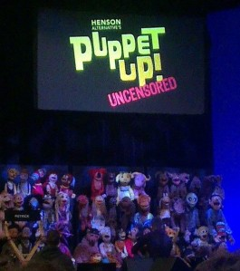 The puppets of Puppet Up!