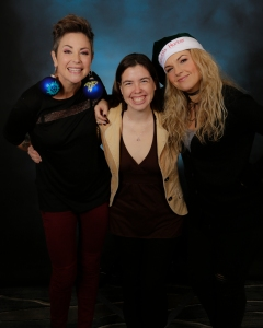 With Kim Rhodes and Briana Buckmaster