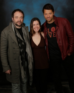 With Mark Sheppard and Misha Collins