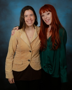With Ruth Connell