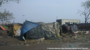 Shanty town poverty in India