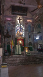 Inside the Santacruz Basilica