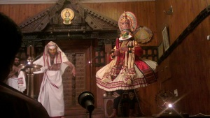 Brahmin and Bhima in the Kathakali show