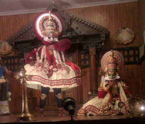 Baka and Bhima in the Kathakali show