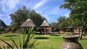 Huts at Aquilla Game Reserve