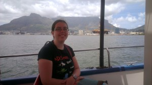 Dominica Malcolm on Tommy the Tugboat, Cape Town, South Africa