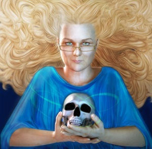 Rayne Hall - Fantasy Horror Author - Portrait by Fawnheart