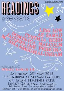 Readings poster May 2013