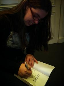 Dominica Malcolm signing Adrift