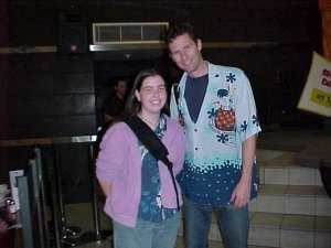 Meeting Adam Hills at the Melbourne Comedy Festival 2001
